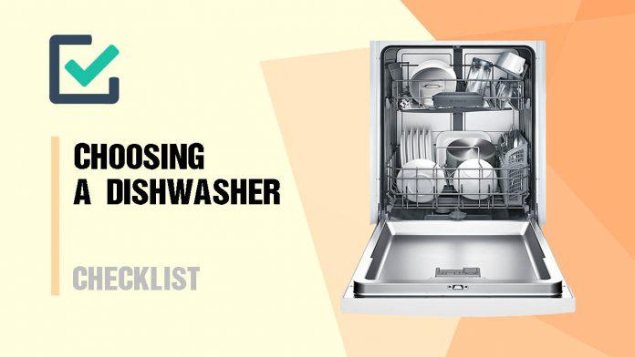 checklist choosing dishwasher