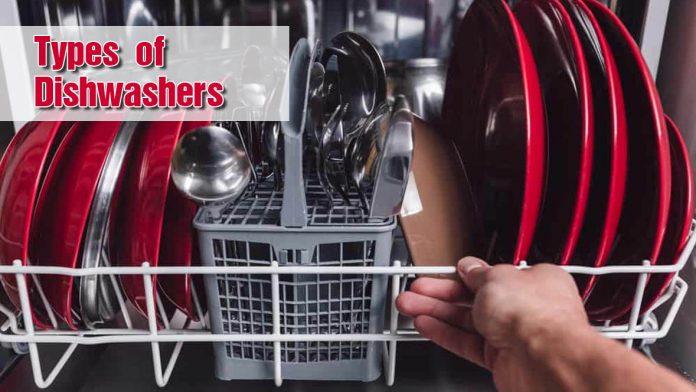 types of dishwashers